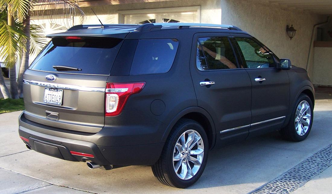 Black Ford Explorer >> Ford Explorer 2012 Matte Black